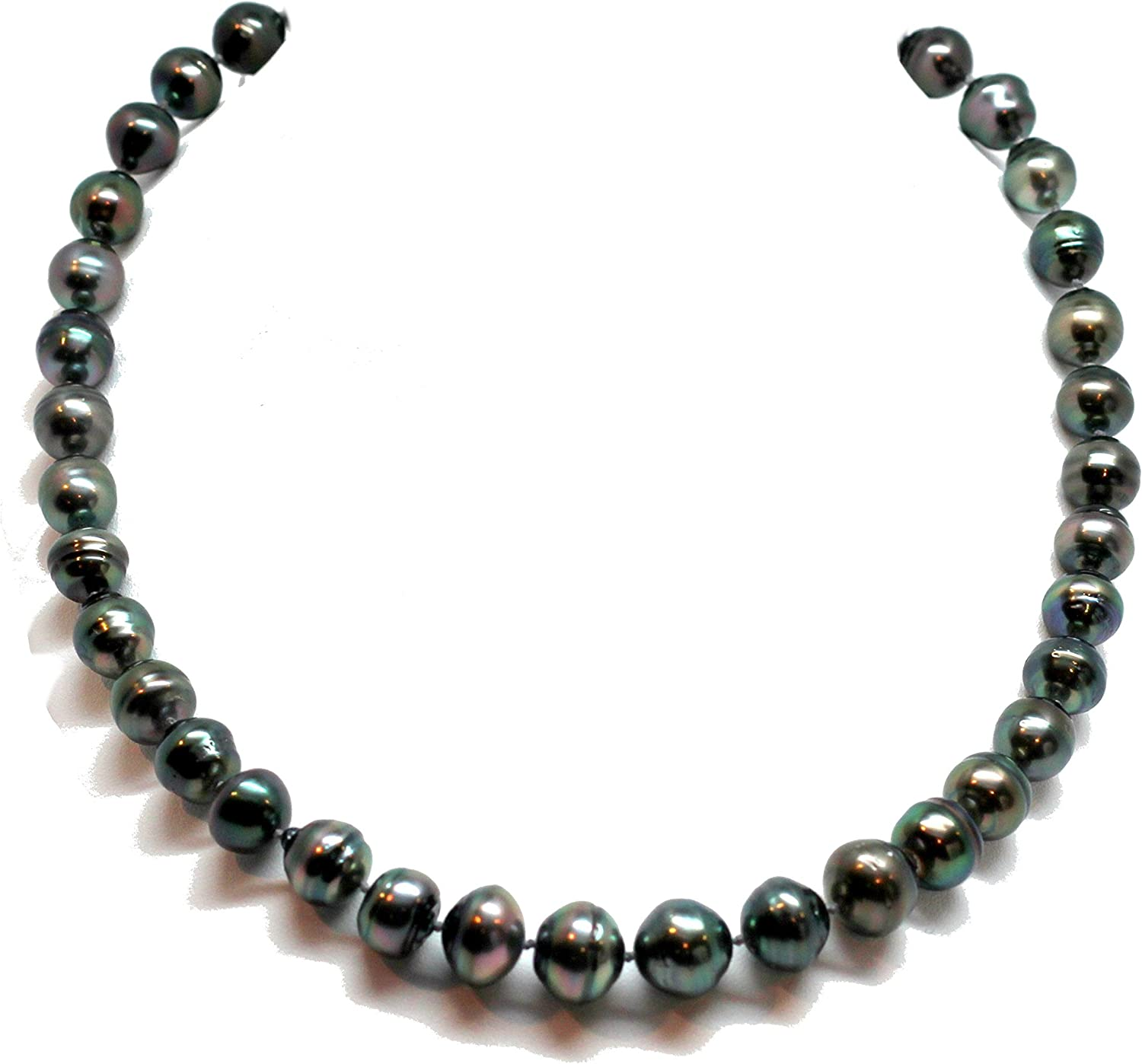 "100/"" 7-8mm Peacock Black Freshwater Pearl Necklace Strands Cultured"