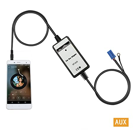Aux interface,Yomikoo Car Mp3 Player Audio Input Auxillary Aux Adapter  3 5mm Interface For VW Beetle 1999-2003,Jetta 1999-2002,Passat  1999-2001,Skoda