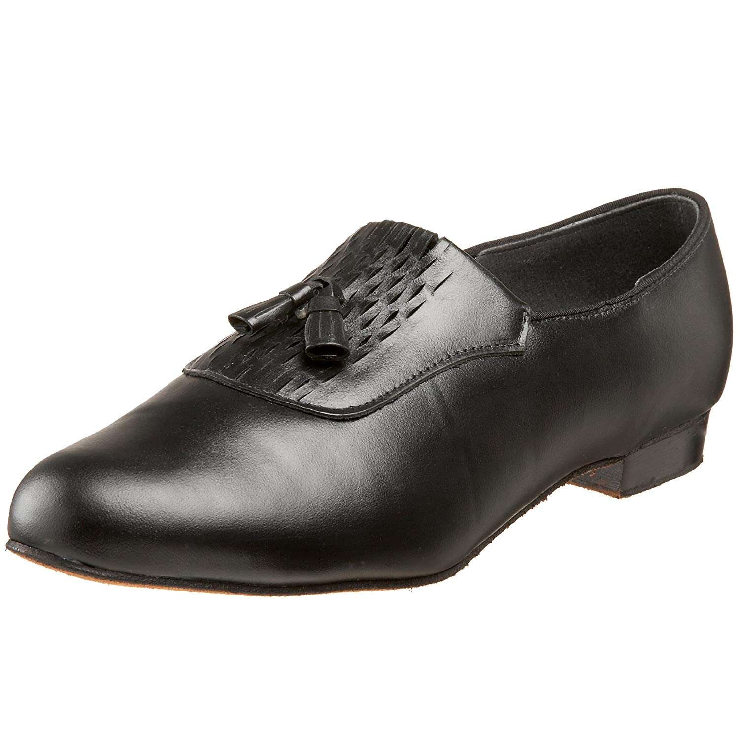 Men's Swing Dance Clothing, Vintage Dance Clothes  Mens Waldorf Tasseled Dance Loafer Tic-Tac-Toes $106.00 AT vintagedancer.com