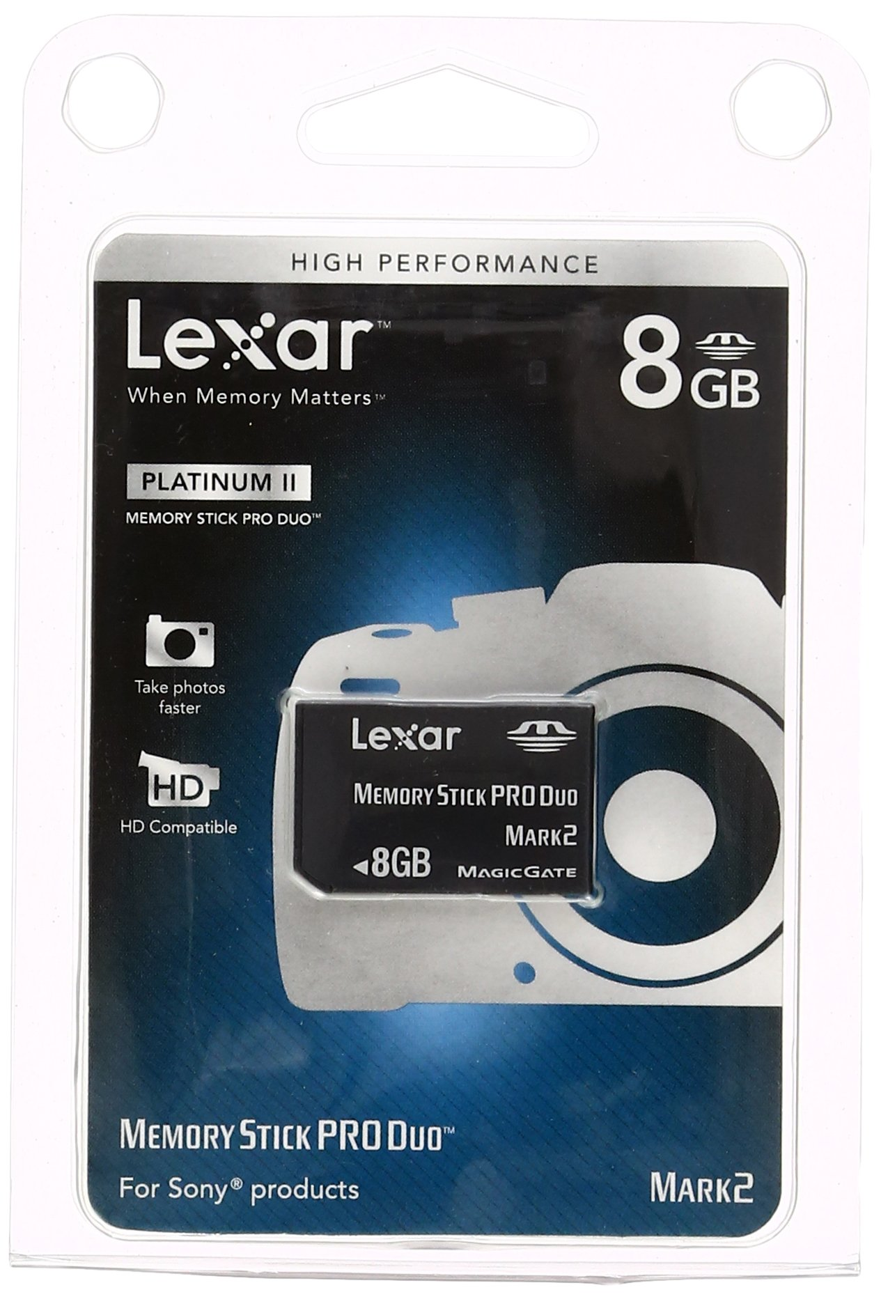 Lexar Platinum II 8GB Memory Stick PRO Duo Memory Card by Lexar