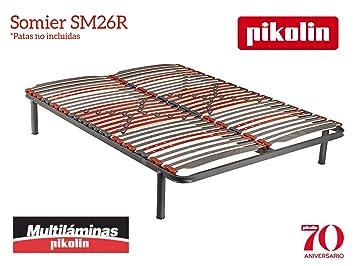 Somier 150x190 Cm.Pikolin Slatted Frame Sm26r Multilaminas Sheets Of Wood 150 X 190 Cm