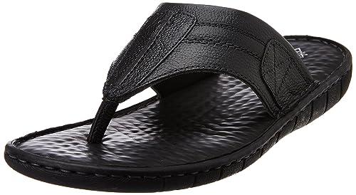 972de1a29578 Hush Puppies Men s Sedan Thong Black Leather Hawaii Thong Sandals - 11  UK India (