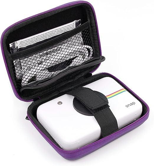 DURAGADGET Fantástica Funda Rígida Morada para Cámara Digital Polaroid Snap Touch- con Mini Mosquetón: Amazon.es: Electrónica