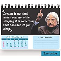 Accuprints Legends Motivational 2020 Calendar for Desk for Motivational Motivation 2020 Planner Office Home Table New Year Hanging Kids All Year School Gift Girls Room Living Room Planning (Legends)