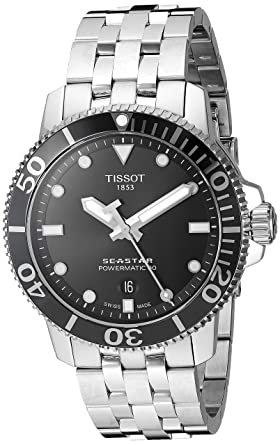 Amazon.com  Tissot Men s Seastar 1000 Powermatic 80 - T1204071105100 ... ba6dde5a852