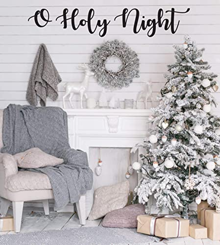 Amazon Com Farmhouse Christmas Decor O Holy Night Holiday Vinyl