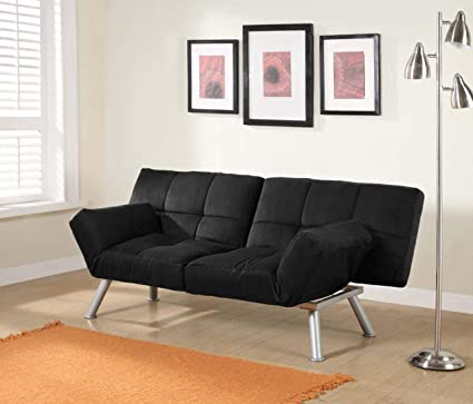 Awesome Amazon Com Black Adjustable Tufted Futon Couch Micro Cjindustries Chair Design For Home Cjindustriesco
