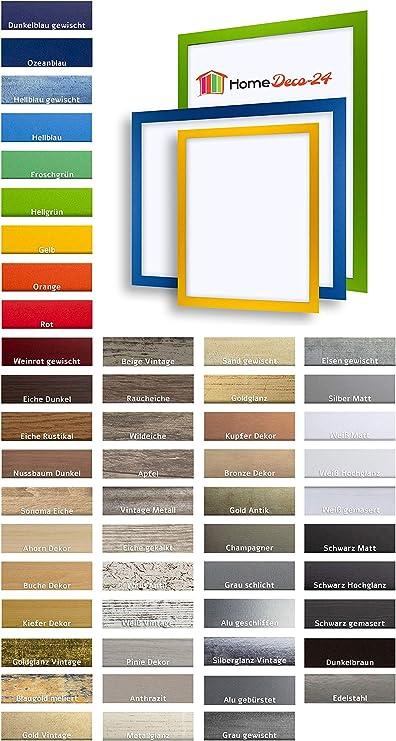 Abgerundet und schlicht in 50 Farben. MDF-Bilderrahmen PIEMONT 47,7 x 67,7 cm