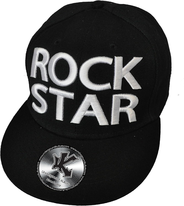 Underground Kulture ROCK STAR Black Snapback Baseball Cap