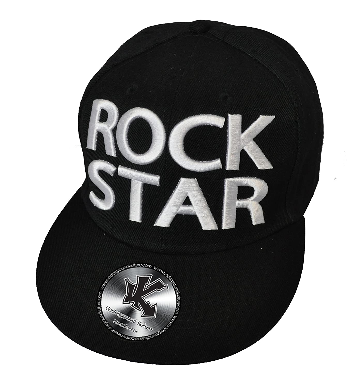 Gorra Snapback de Pico Plano Rock Star Negro (Rock Star Snapback ...