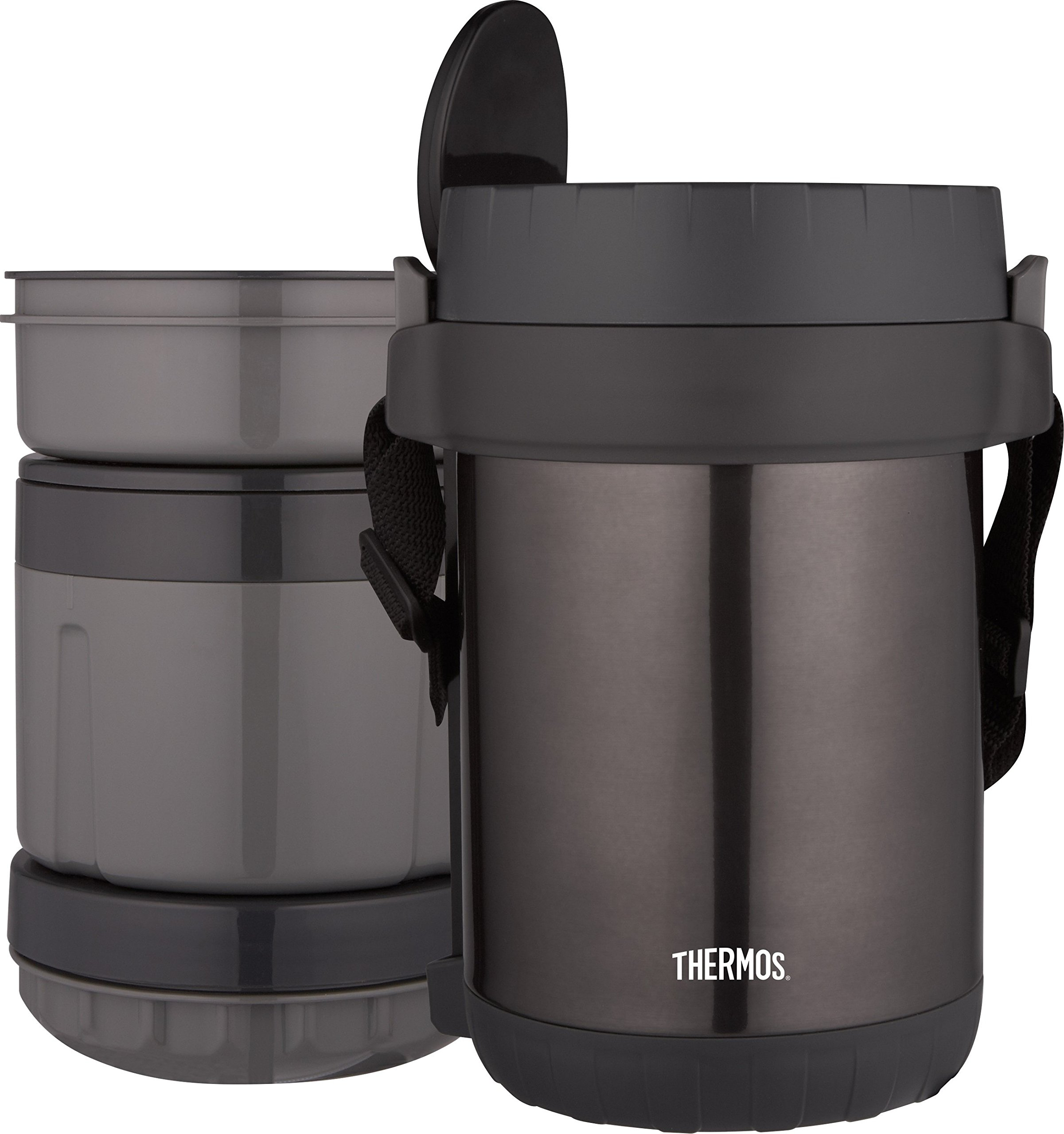 THERMOS All-In-One Vacuum Insulated Stainless Steel Meal Carrier with Spoon, Smoke by Thermos