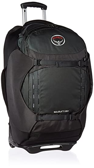 Amazon.com : Osprey Packs Sojourn Wheeled Luggage, Flash Black, 60 ...