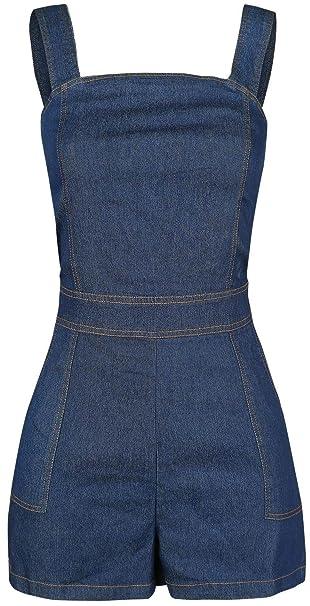213ed298f8da VOODOO VIXEN Denim Playsuit Jumpsuit Blue  Amazon.co.uk  Clothing