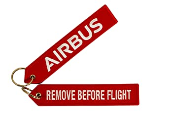 Llavero rojo Airbus