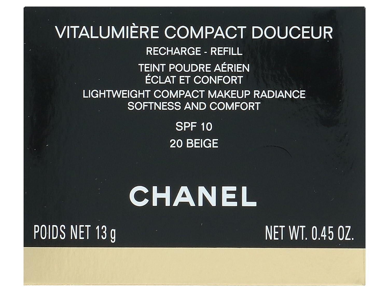 Chanel Vitalumière Compact Douceur Refill 20-Beige - 13 gr ...