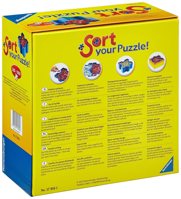 Set de 6 bandejas portapiezas puzzle Sort & Go Ravensburger 17934.: Amazon.es: Juguetes y juegos
