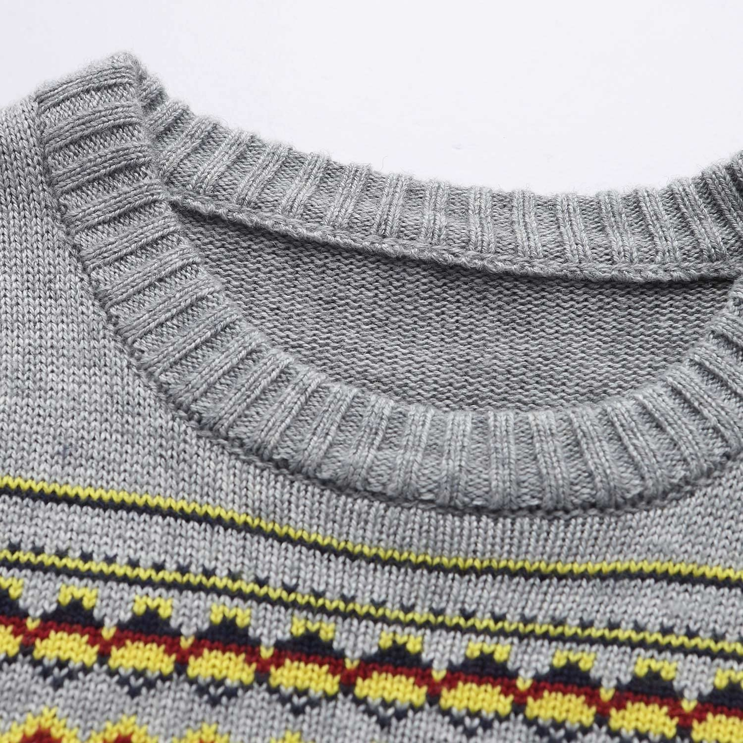Leo/&Lily Boys Wool Blends Casual Dobby Sweater Pullover Blue