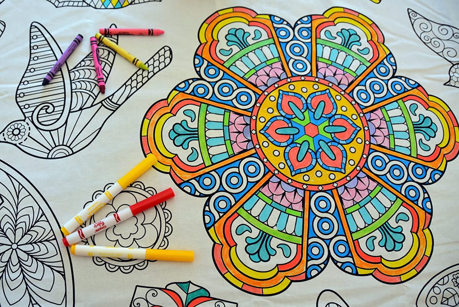 Colorable Mandala Set of 8 Placemats The Coloring Table