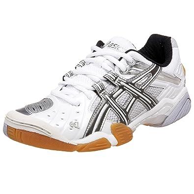ASICS Women's GEL-Domain Court Shoe,White/Black/Silver,12 B