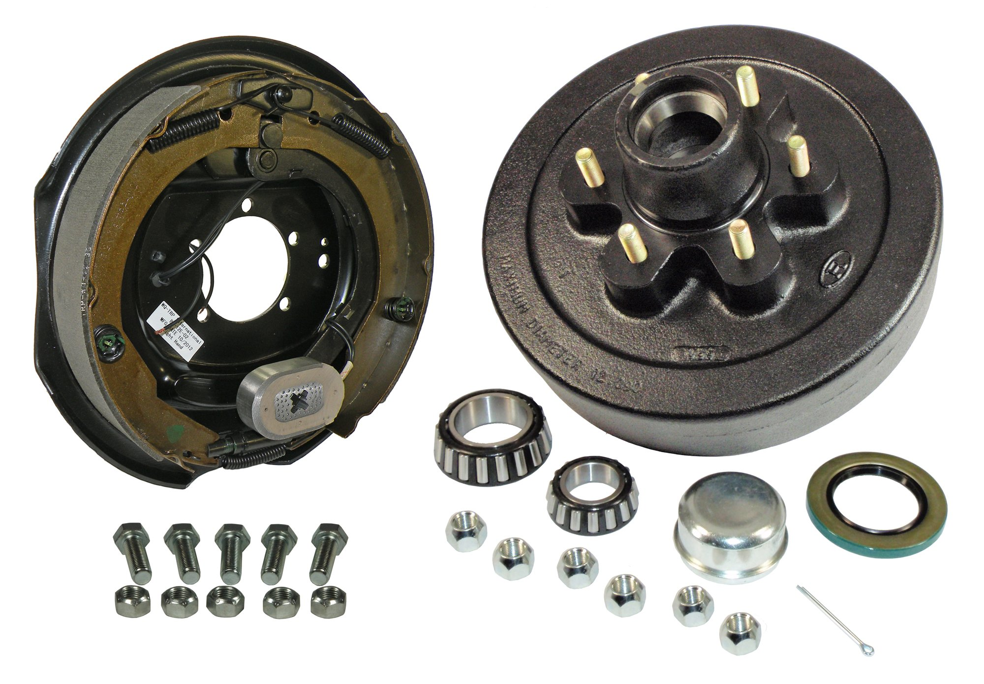Rigid Hitch 6-Bolt on 5-1/2 Inch Bolt Circle - 12 Inch Hub/Drum with Electric Brake Assembly - Passenger Side by Rigid Hitch