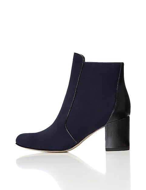 34681b9fa Botines con Tacón Cuadrado para Mujer  Amazon.es  Zapatos y complementos