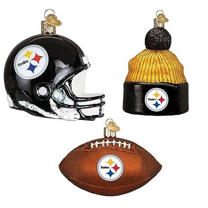 Steelers Christmas Ornaments.Amazon Com Old World Christmas Pittsburgh Steelers