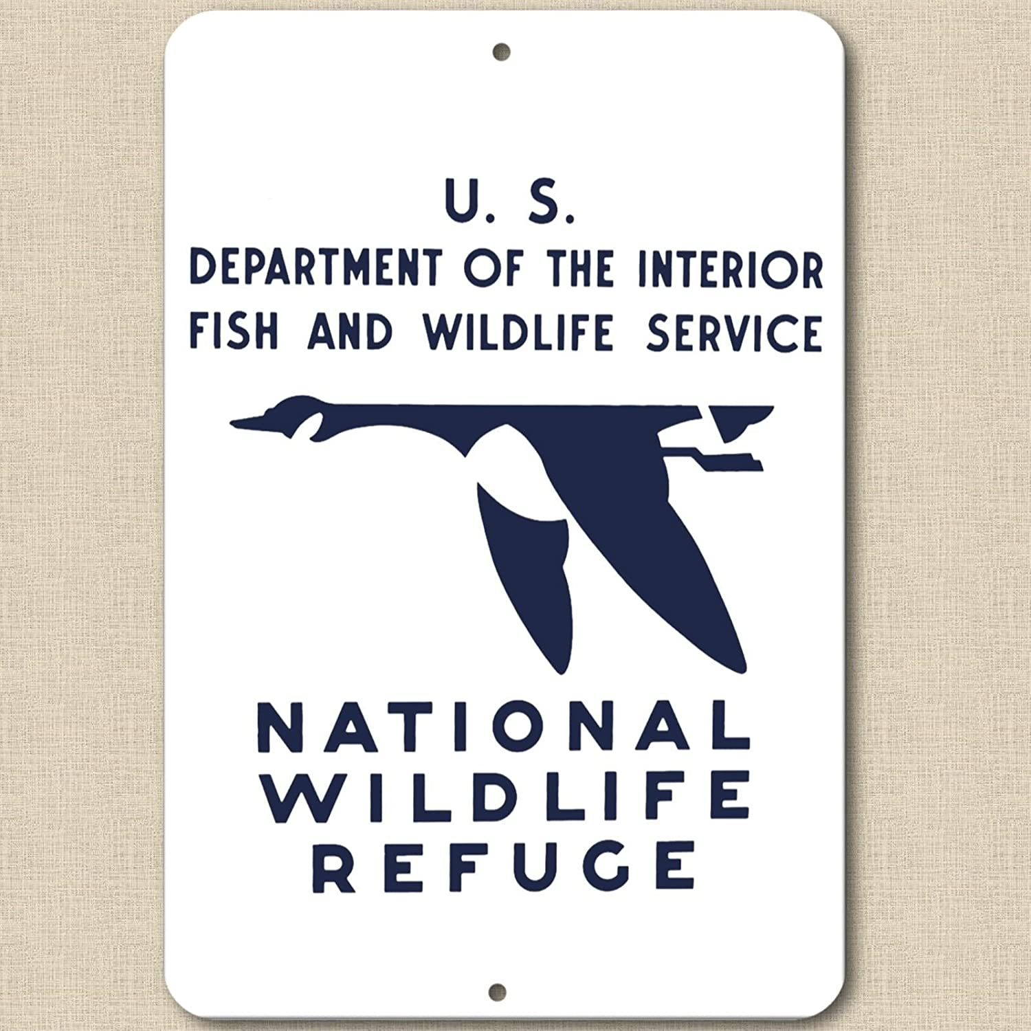 "Forever Signs Of Scottsdale Vintage Replica 1930's National Wildlife Refuge - Aluminum Sign 8"" X 12"" New"