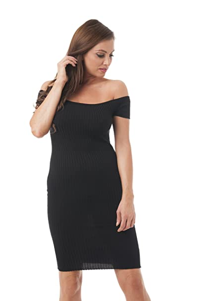 bf3f1e38b1f Khanomak Off The Shoulder Short Sleeve Sweater Dress at Amazon Women s  Clothing store