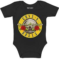 Monos para bebés Manga Corta Guns N' Roses, Classic Bullet Logo, Official Merchandise, Producto Original