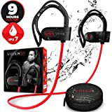 [Newest 2020] Villain X6 Bluetooth 5.0 Wireless Earbuds - aptX HiFi Sound & Clear Thumping Bass - Best Headphones for Sport, Running, Gym, Workout - IPX7 Waterproof Earphones with Microphone