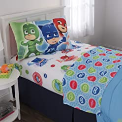 PJ Masks Kids Bedding Soft Microfiber Sheet Set, Twin Size 3 Piece Pack