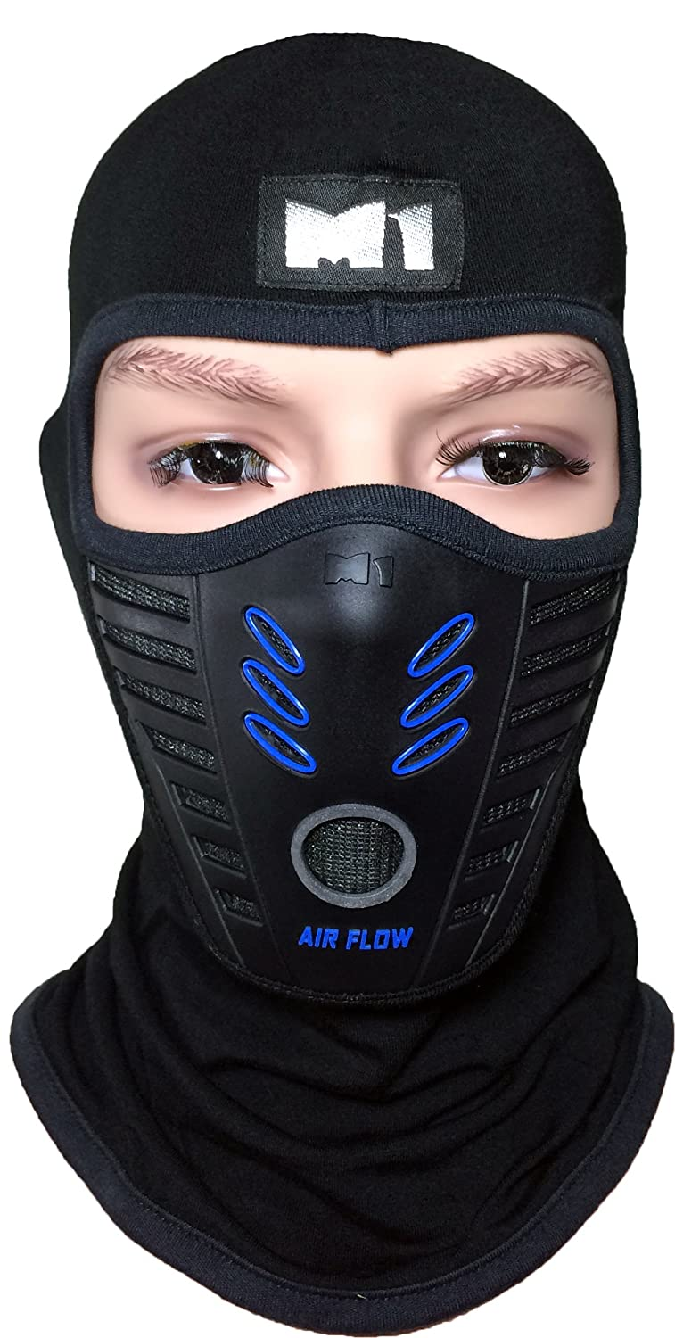 M1 Full Face Cover Balaclava Protection Filter Rubber Mask (BALA-FILT-RUBB-BKBL)