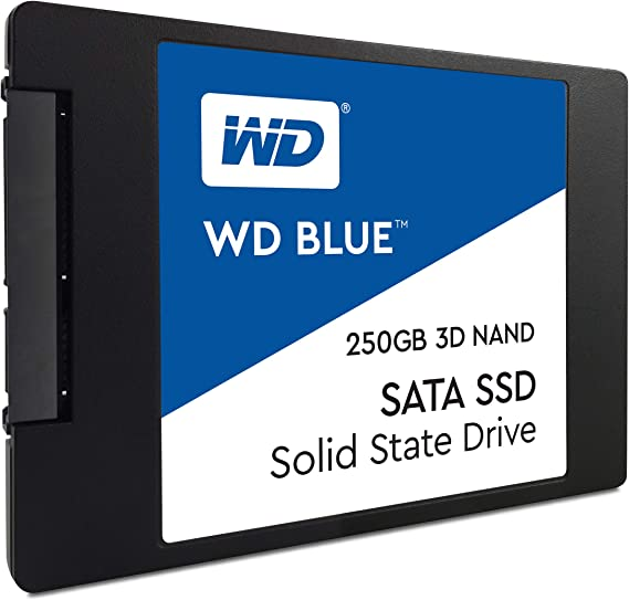 Western Digital WDS250G2B0A WD Blue 250GB 3D NAND Internal SSD 2.5 ...