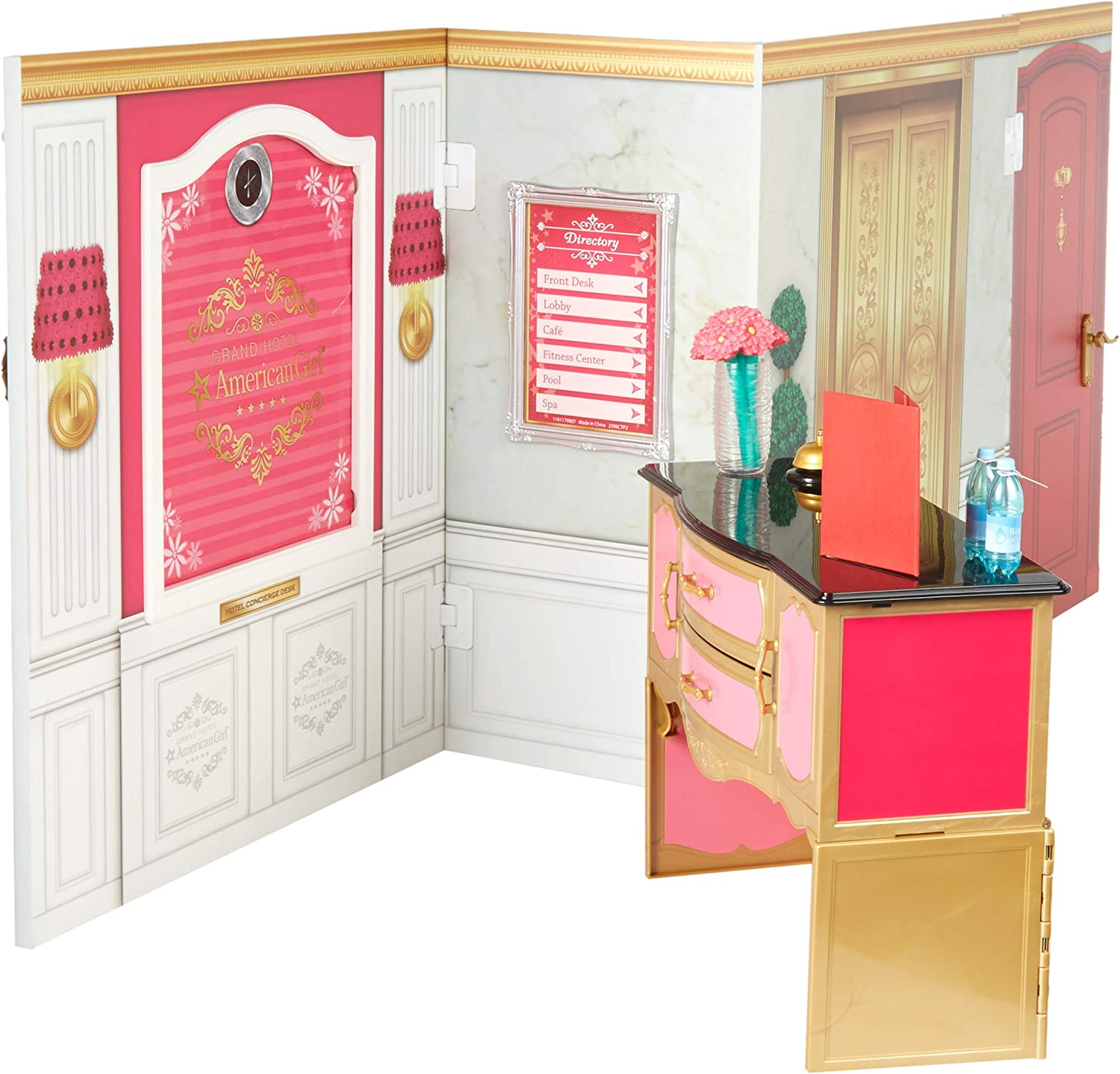 American Girl 2017 Grand Hotel Pink Towel with Star Embroidery For Doll Only