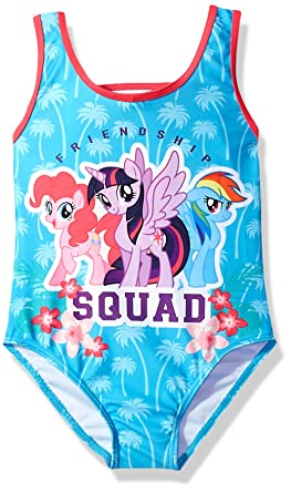 ba52acd6fbc9e Amazon.com: Hasbro Little Girls' My Little Pony Friends One Piece: Clothing