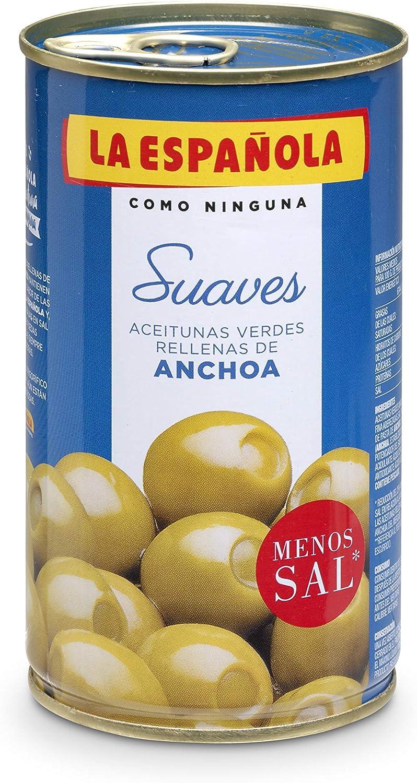 La Española - Aceitunas Verdes Rellenas De Anchoa Suaves: Amazon ...