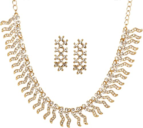 Bindhani Gold Plated Wedding Bridal Indian Red Green Rhinestone Bangle Set Jewelry For Women