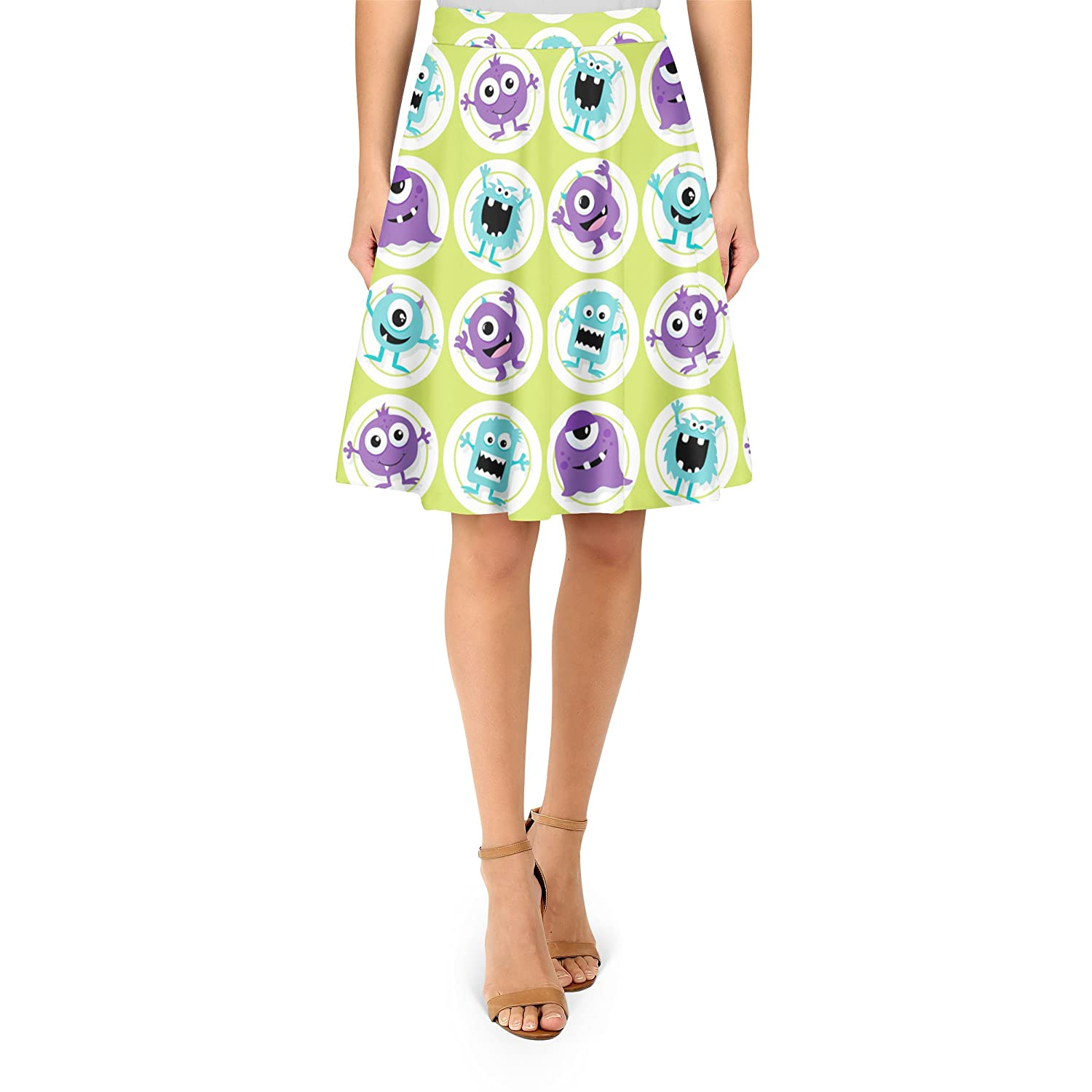 Funny Monsters A-Line Skirt