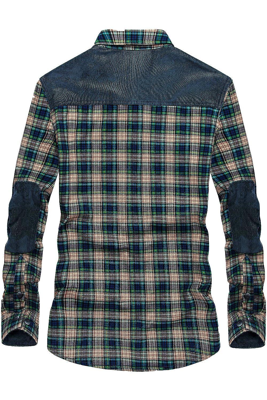 031748de4 Mr.Stream Men s Padded Lumberjack Casual Long Sleeve Plaid Flannel ...