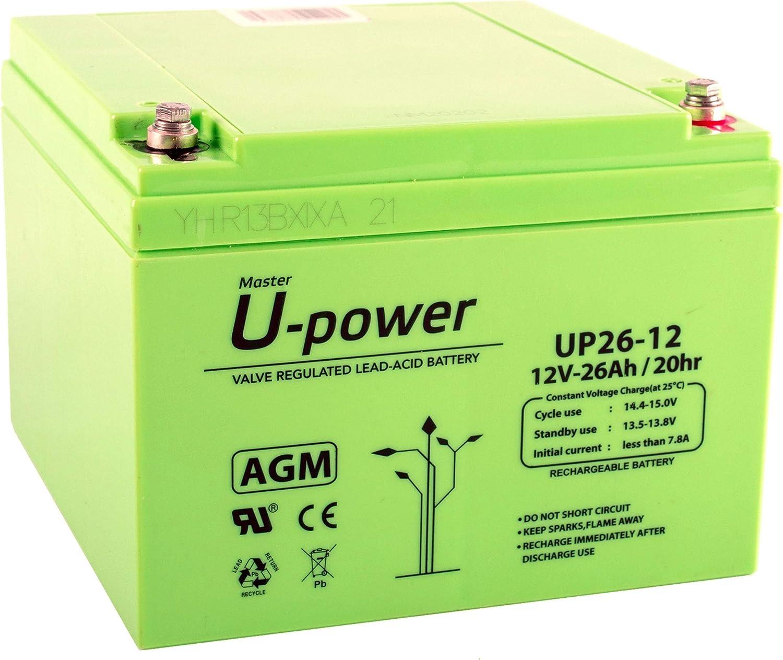 Master U-Power MU-UP26-12 Batería Plomo AGM 26Ah 12V