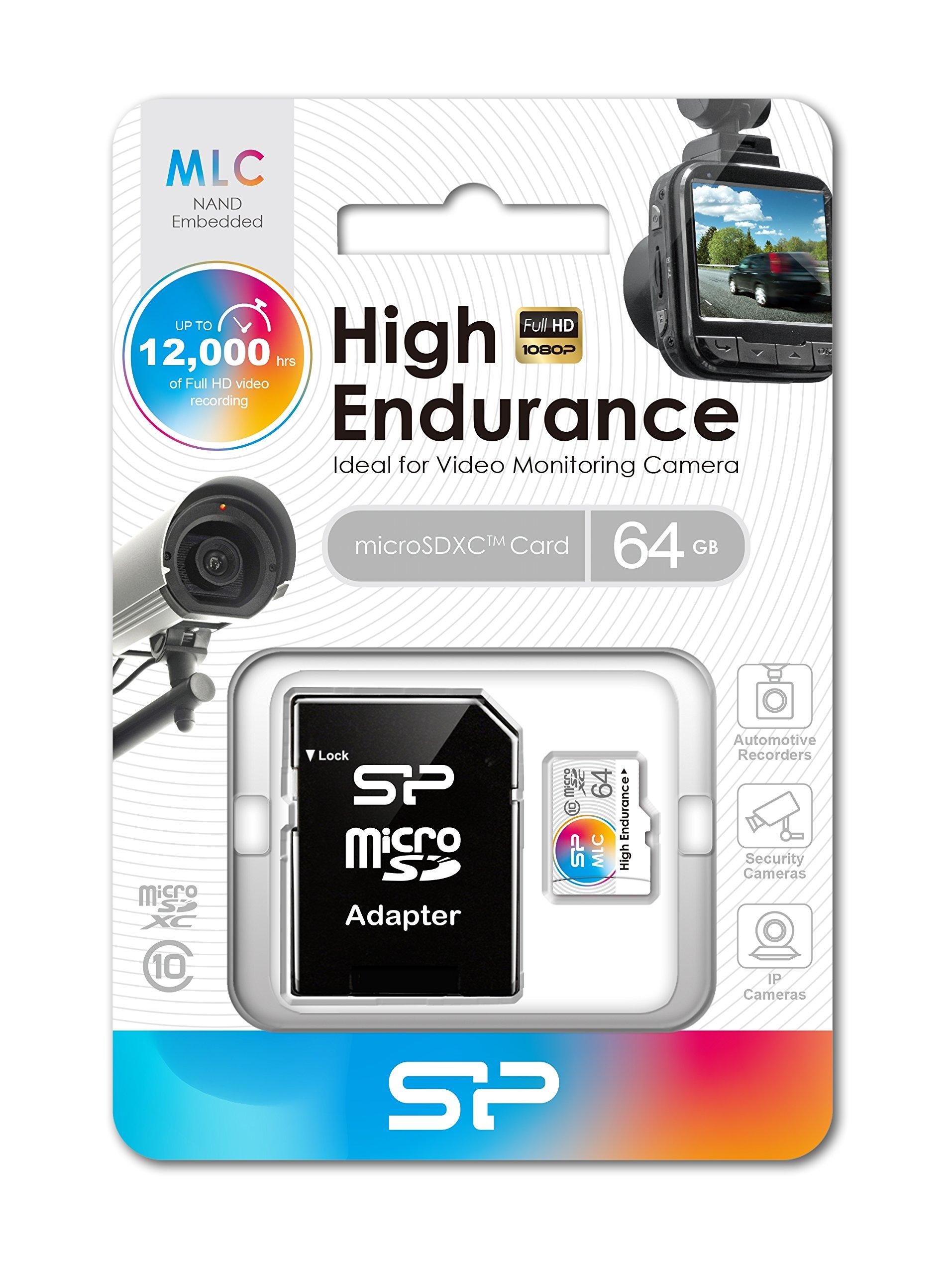 64GB Silicon Power High-Endurance microSDXC CL10 MLC Memory Card by Silicon Power (Image #2)