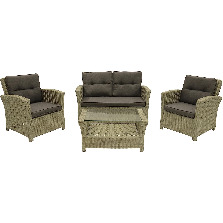 loungeset jazz pebble gartenm bel set 4 teilig 2 st hle. Black Bedroom Furniture Sets. Home Design Ideas