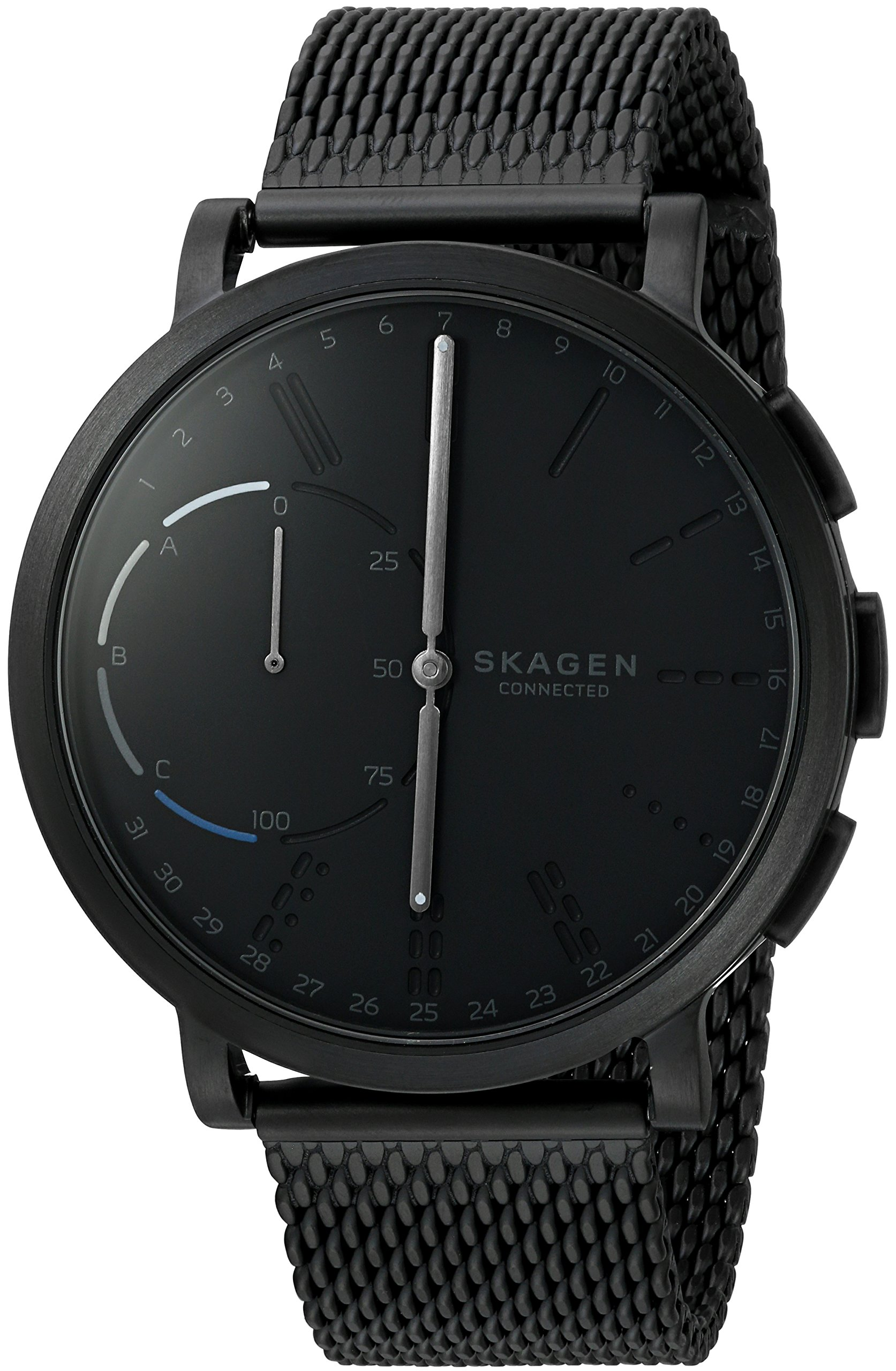Skagen Connected Men's Hagen Stainless Steel Mesh Hybrid Smartwatch, Color: Black (Model: SKT1109)