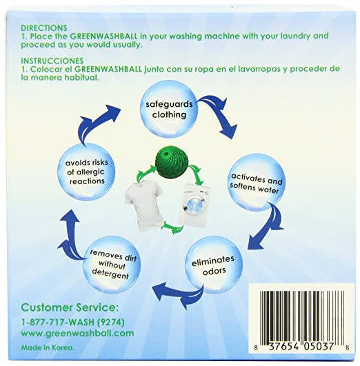 Amazon.com: Green Wash Ball Laundry Ball, Wash without Detergent: Health &  Personal Care