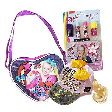 4460c1760 Amazon.com: JoJo Siwa Purse Crossbody Shoulder Bag w/Lip &Nail Set ...