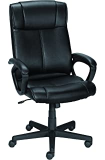 amazon com staples osgood bonded leather high back manager s chair