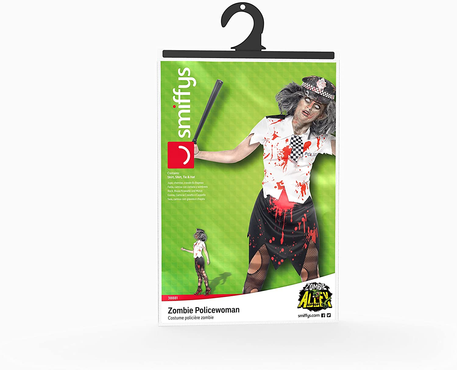 Amazon.com: Smiffys Womens Zombie Policewoman Costume: Clothing