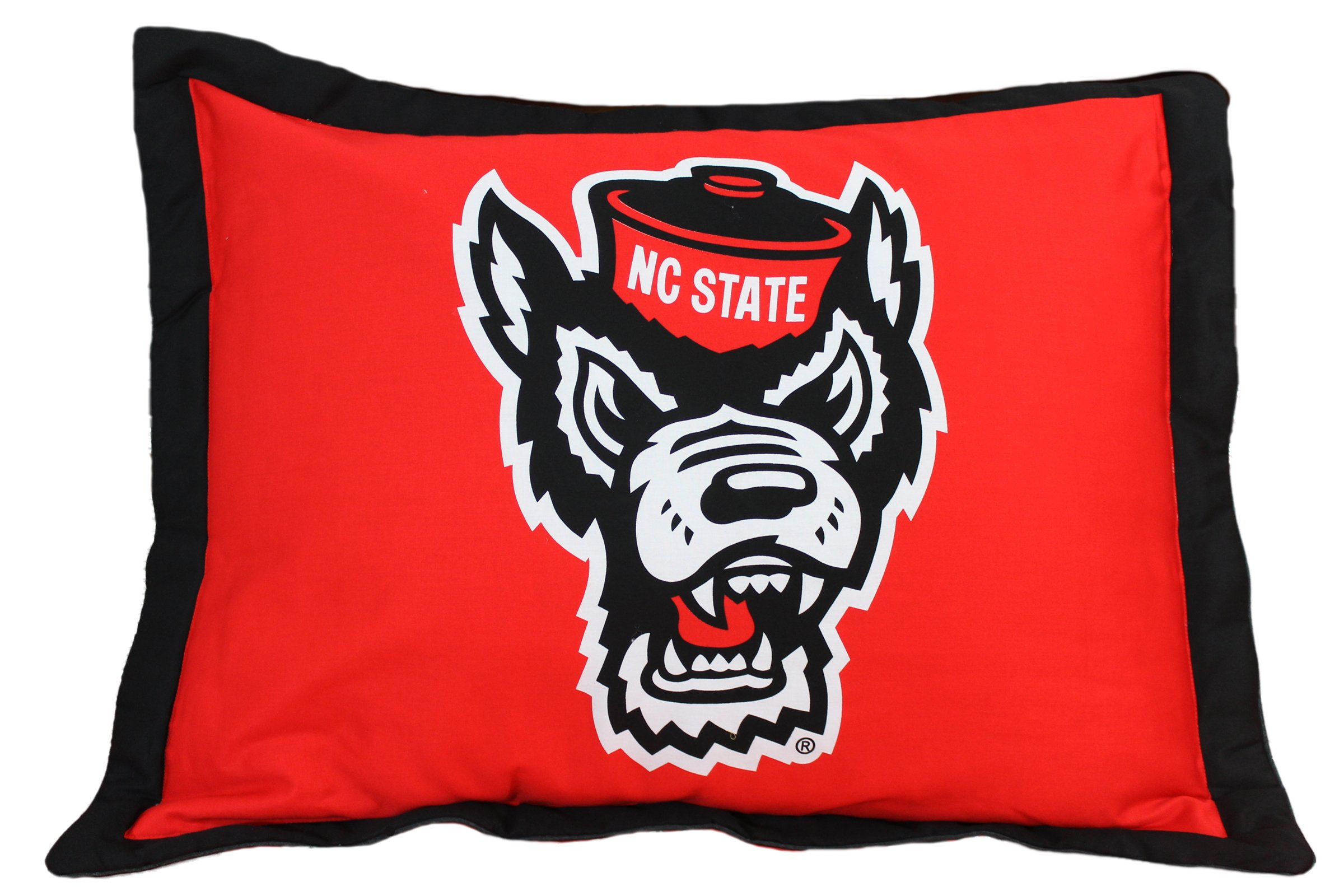 North Carolina State Wolfpack (2) Piece Twin Reversible Comforter Set and One Matching Window Curtain Valance - Entire Set includes: (1) Twin Reversible Comforter, (1) Standard Pillow Sham and (1) Matching Window Curtain Valance - Save Big By Bundling!