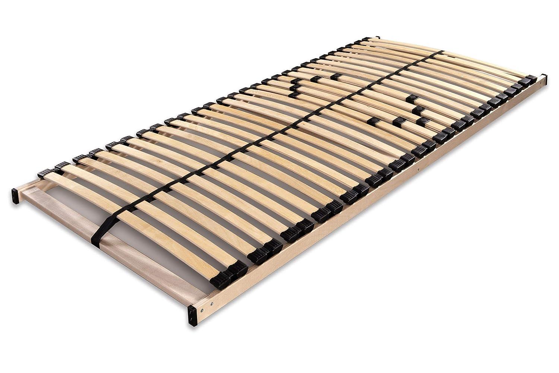 Betten Betten Betten ABC Lattenrost Max1 NV   Montierter Lattenrahmen in 140 x 200cm mit Mittelzonenverstellung und 28 Leisten - geeignet für alle Matratzen eff133