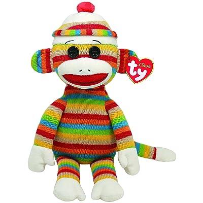 Ty Beanie Buddies Socks Monkey (Stripes): Toys & Games
